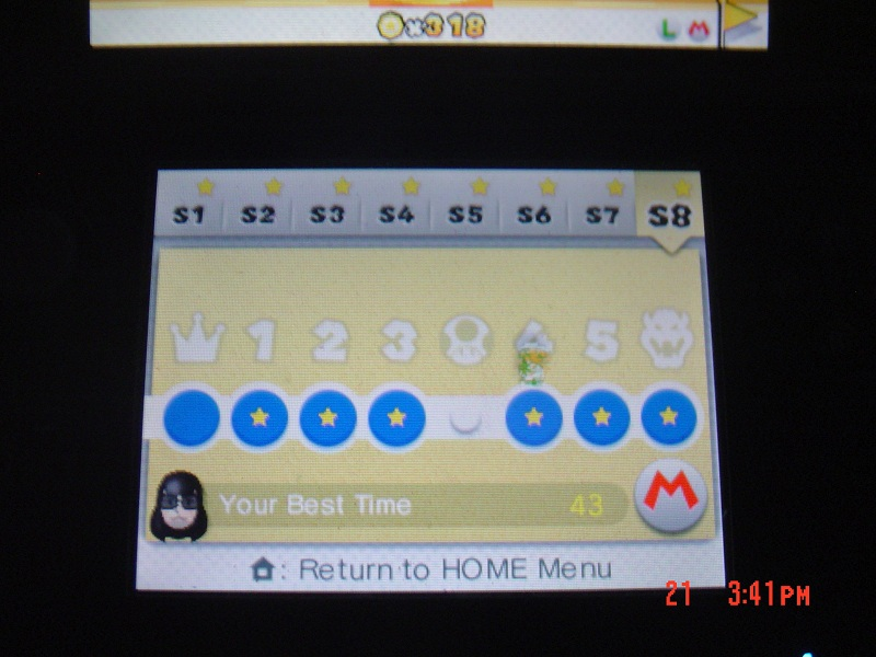 Super Mario 3D Land: Special 8-4 [Best Time] 43 points
