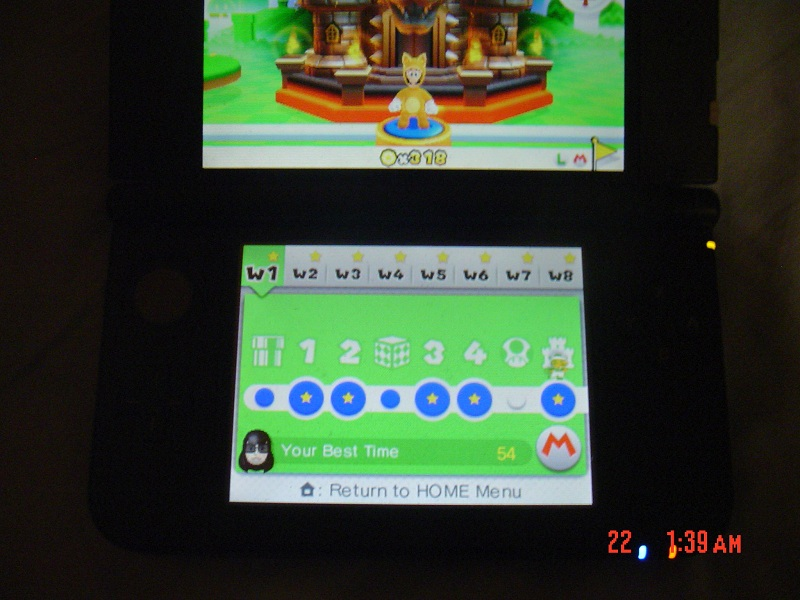 Super Mario 3D Land: World 1-Castle [Best Time] (Nintendo 3DS) high