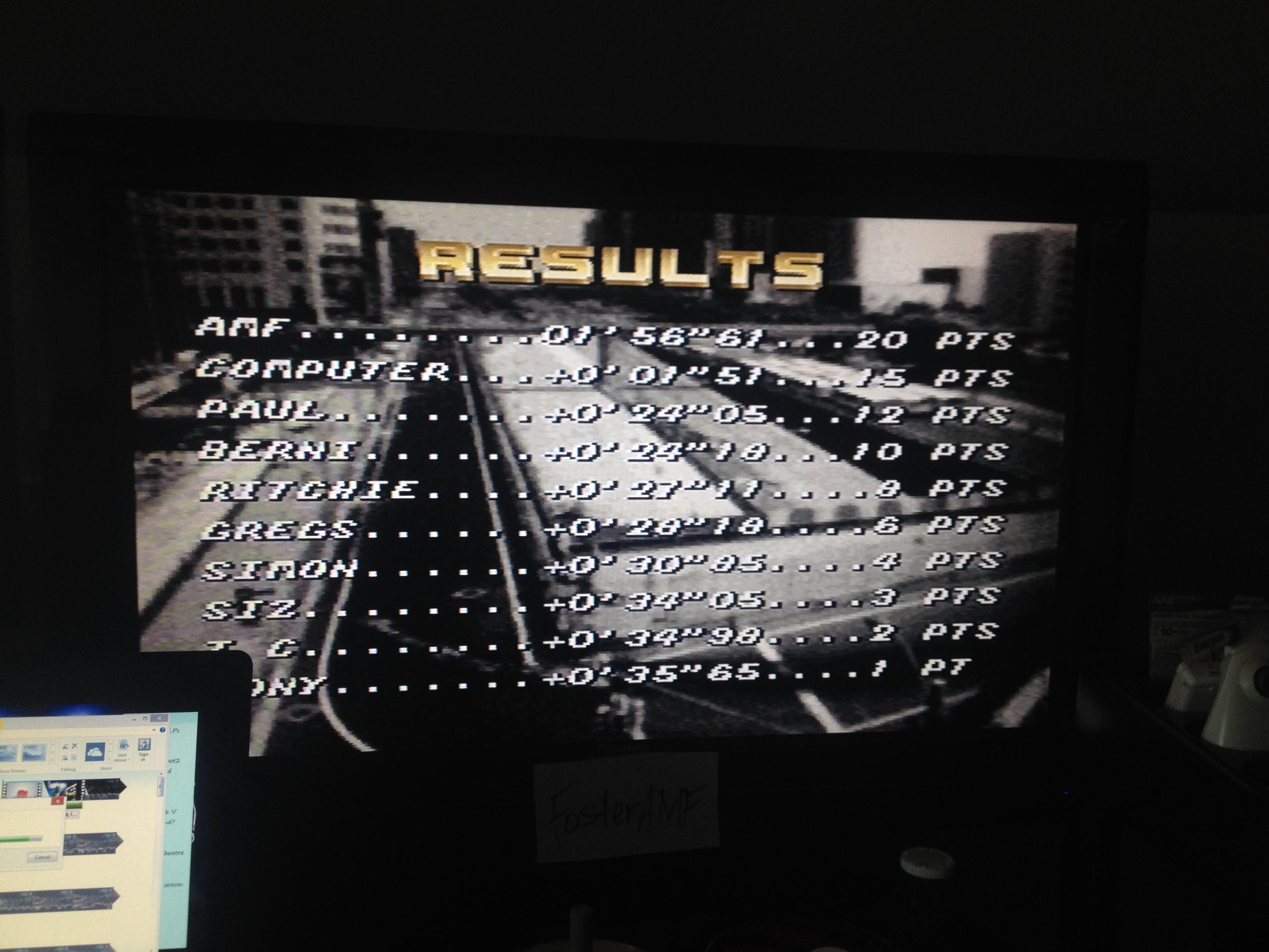 FosterAMF: Top Gear [Track 6: Machu Picchu/Amateur Difficulty/No Nitro] (SNES/Super Famicom) 0:01:56.61 points on 2014-07-18 15:52:36