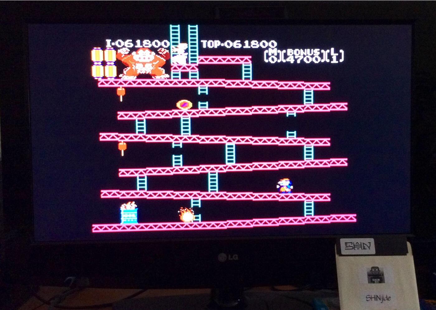Donkey Kong 61,800 points