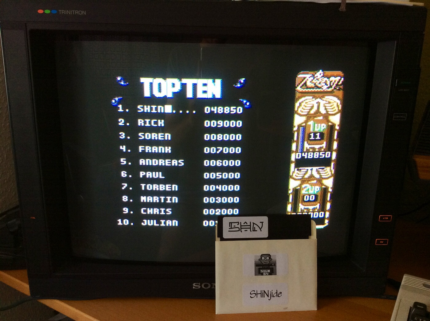 SHiNjide: ZOOM! (Commodore 64) 48,850 points on 2014-07-19 09:15:26