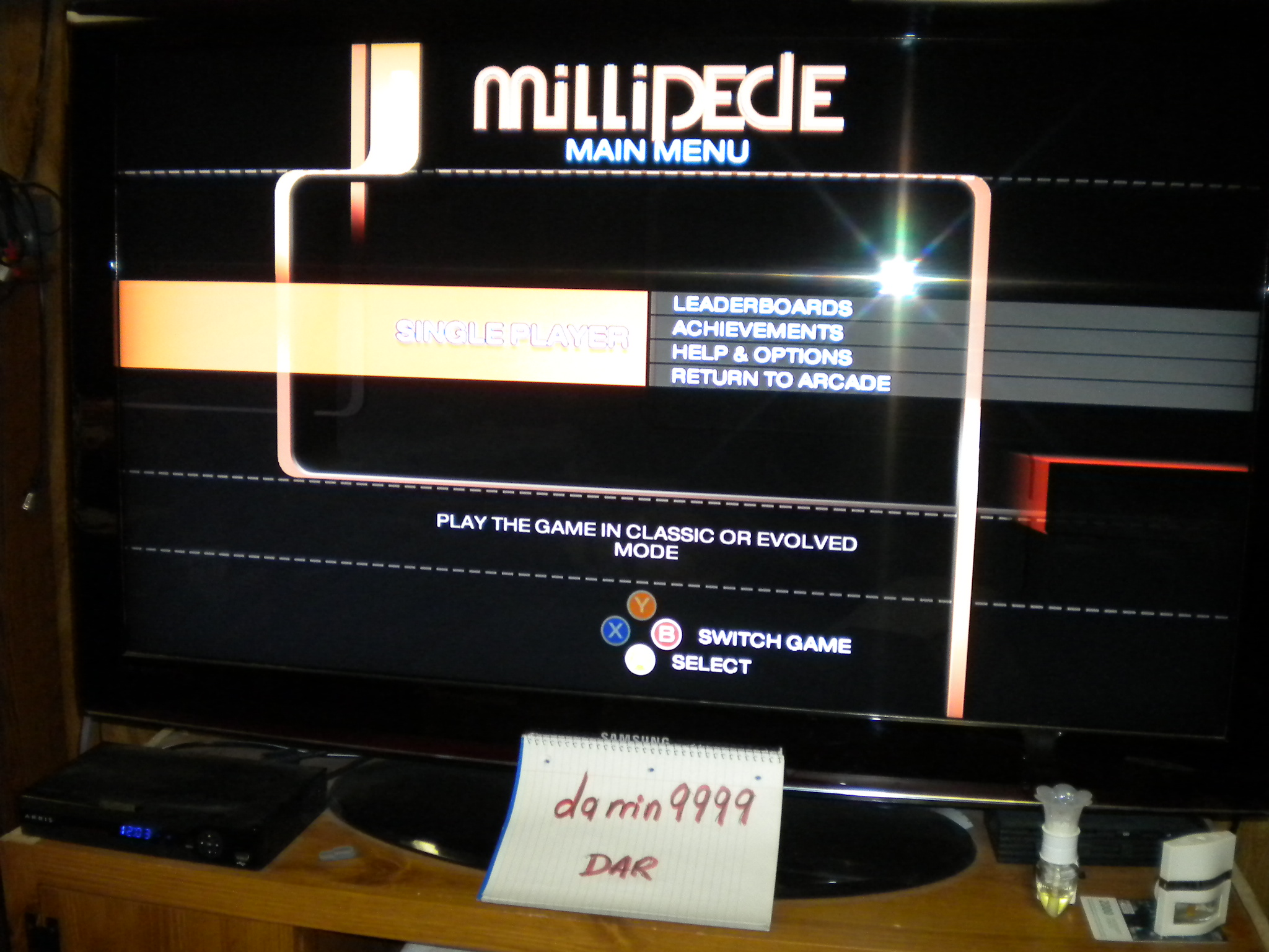 Millipede: Evolved [Default Difficulty] 19,266 points
