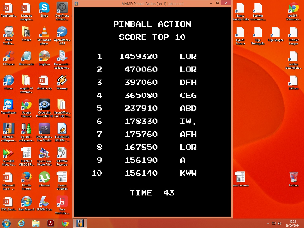 Pinball Action [pbaction] 1,459,320 points