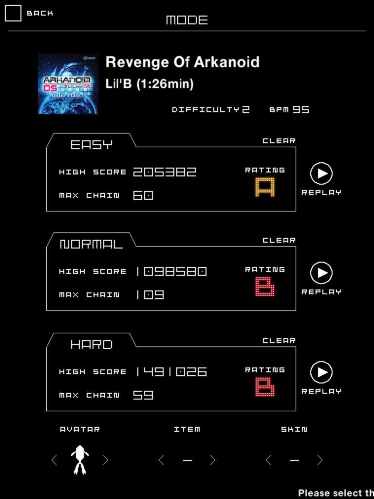 Groove Coaster: Revenge Of Arkanoid (easy) 205,382 points
