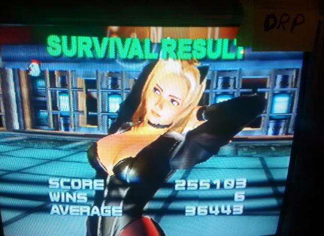 Dead Or Alive 2 Hardcore: Survival Mode 255,103 points