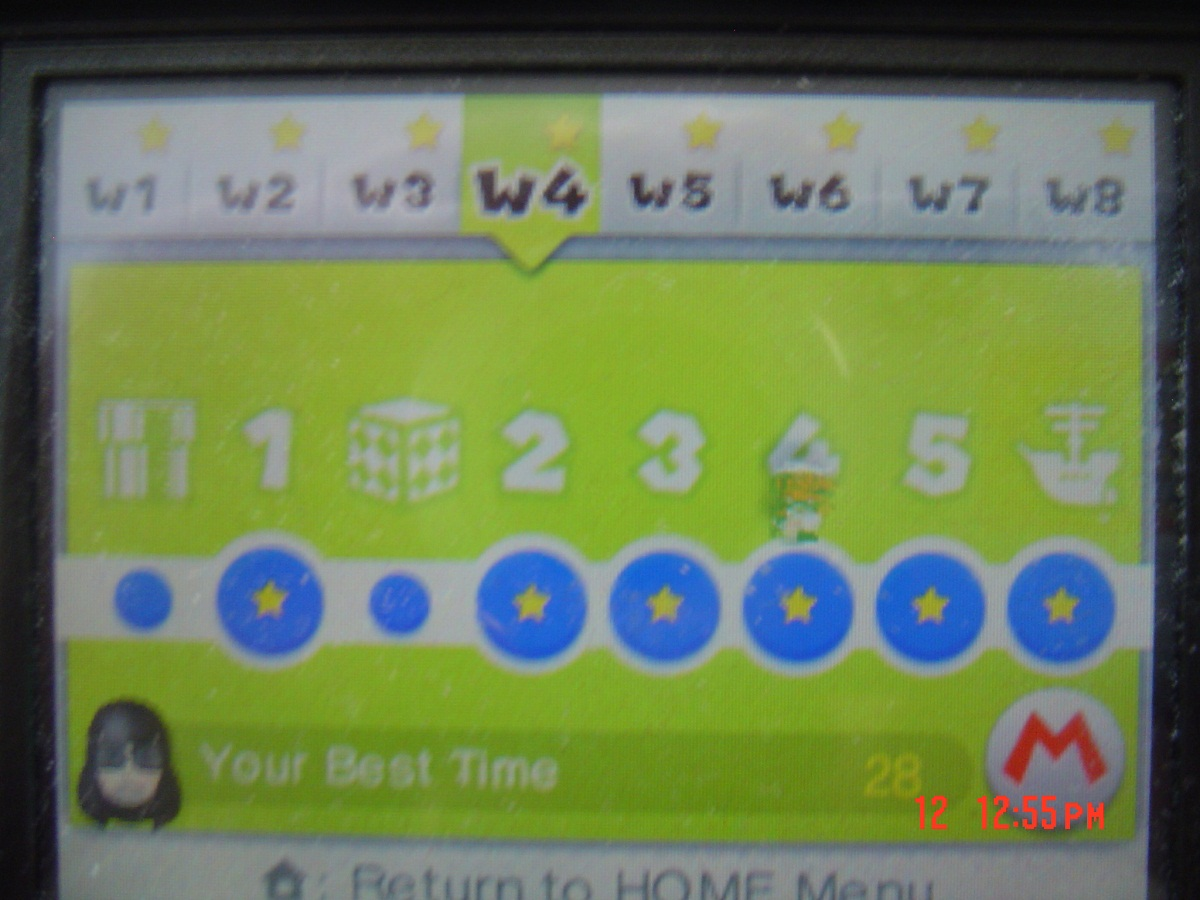 Super Mario 3D Land: World 4-4 [Best Time] 28 points