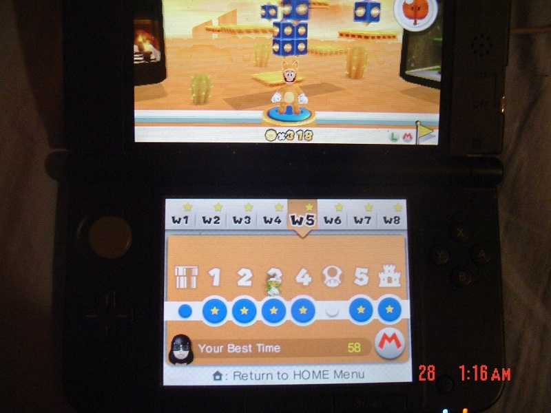 Super Mario 3D Land: World 5-3 [Best Time] (Nintendo 3DS) high score