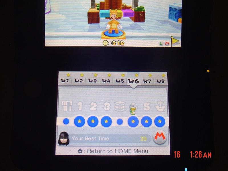 Super Mario 3D Land: World 6-4 [Best Time] 39 points