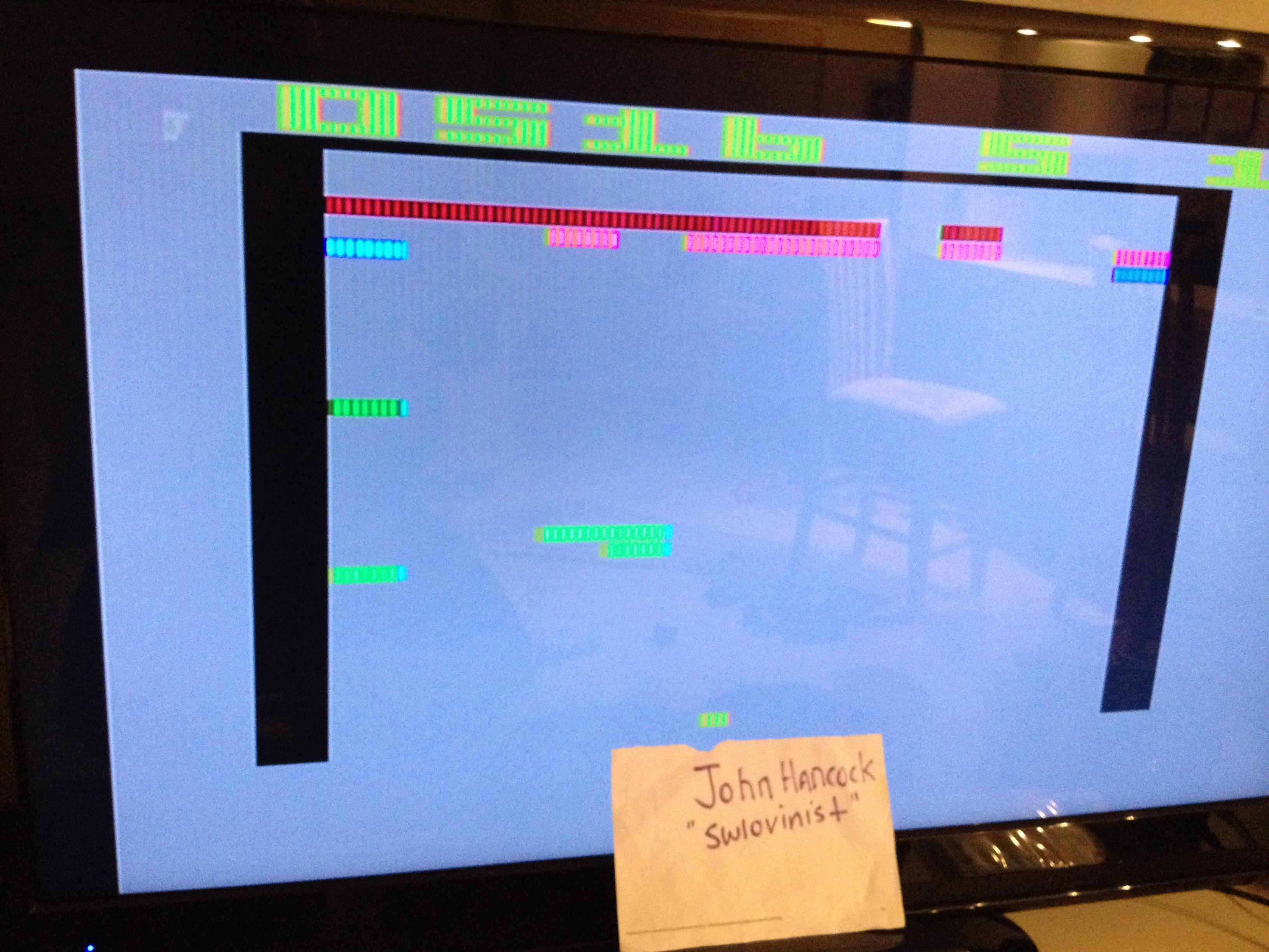 swlovinist: Super Breakout (Atari 2600 Expert/A) 516 points on 2013-10-01 00:56:38