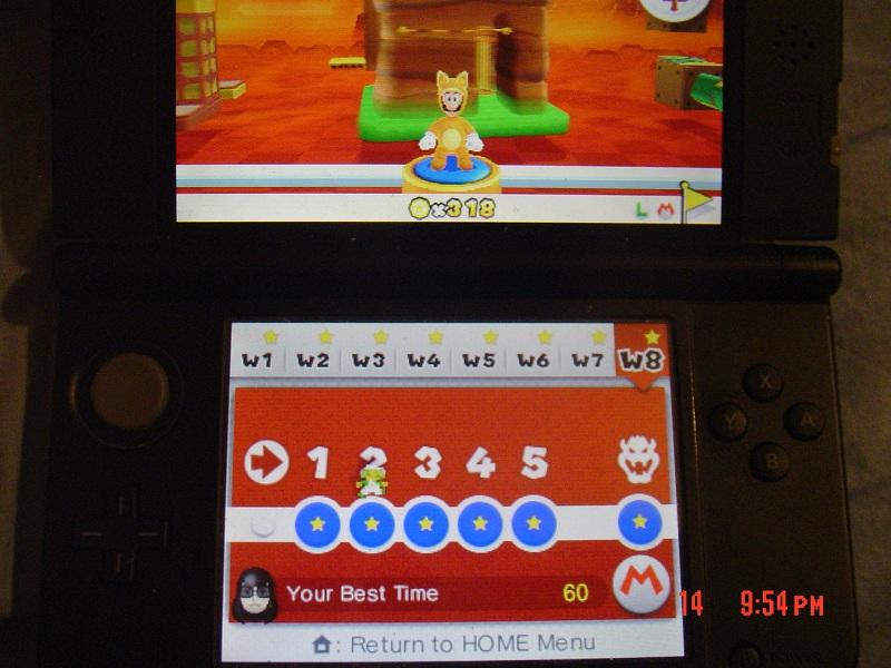 Super Mario 3D Land: World 8-2 [Best Time] 60 points