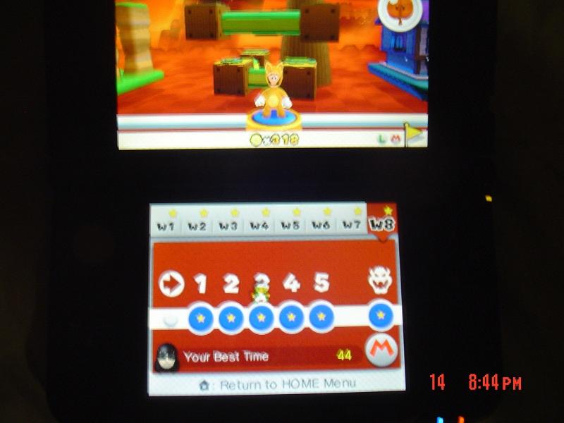 Super Mario 3D Land: World 8-3 [Best Time] 44 points