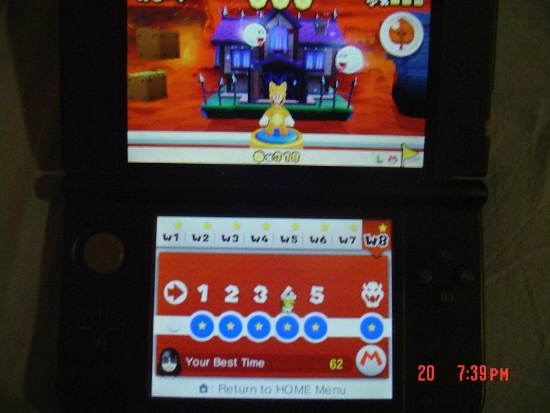 Super Mario 3D Land: World 8-4 [Best Time] 62 points