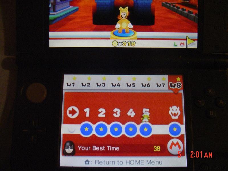 Super Mario 3D Land: World 8-5 [Best Time] 38 points
