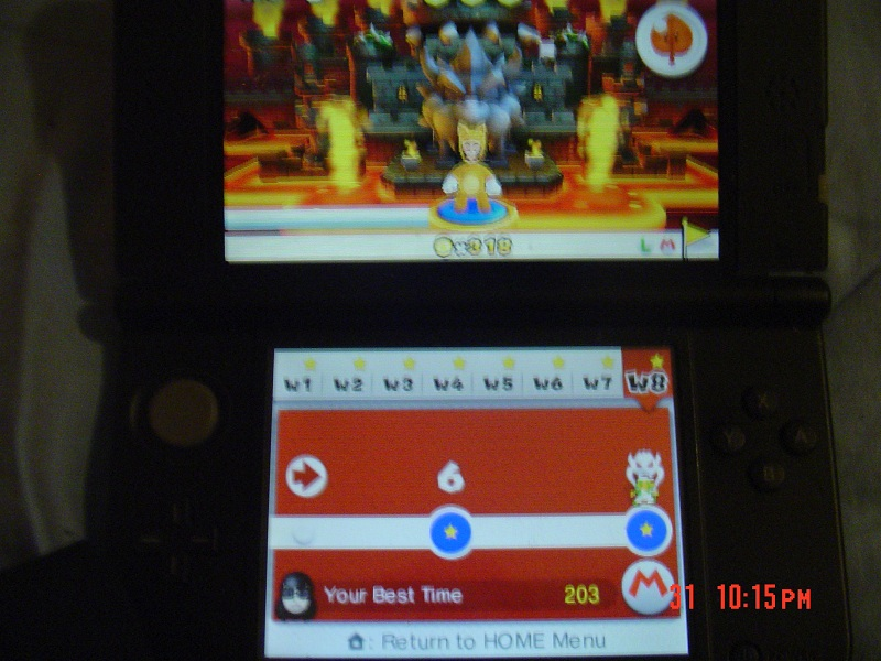 RikuVanhanen: Super Mario 3D Land: World 8-Bowser 2 [Best Time] (Nintendo 3DS) 203 points on 2014-07-20 14:03:44