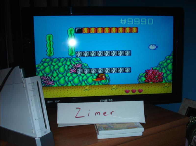 Zimer: Alex Kidd In Enchanted Castle [Any Settings/Any Tactics] (Wii Virtual Console: Genesis) 9,990 points on 2014-07-20 15:07:36