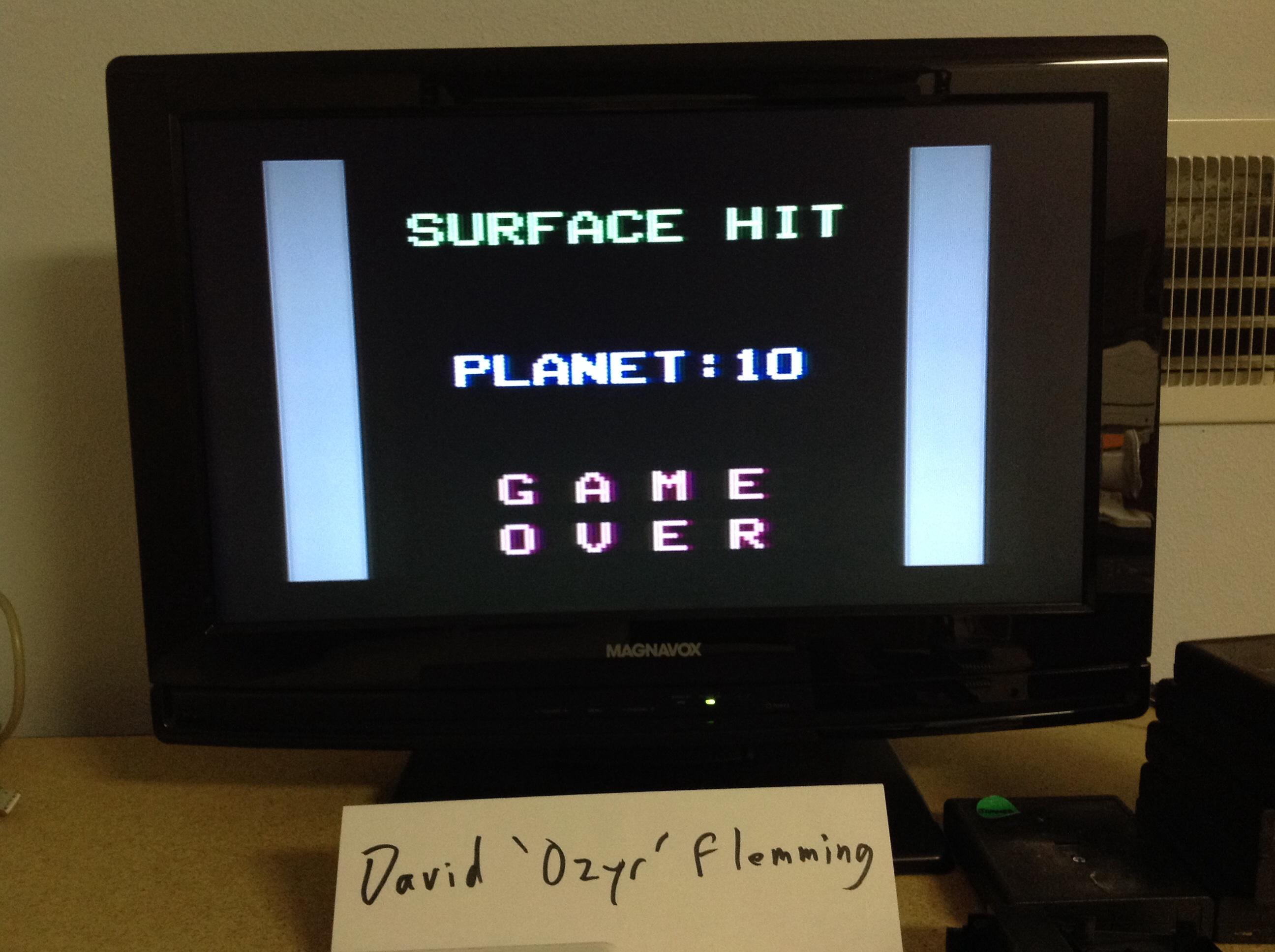 Ozyr: Planet Lander (Odyssey 2 / Videopac) 10 points on 2014-07-20 17:24:51