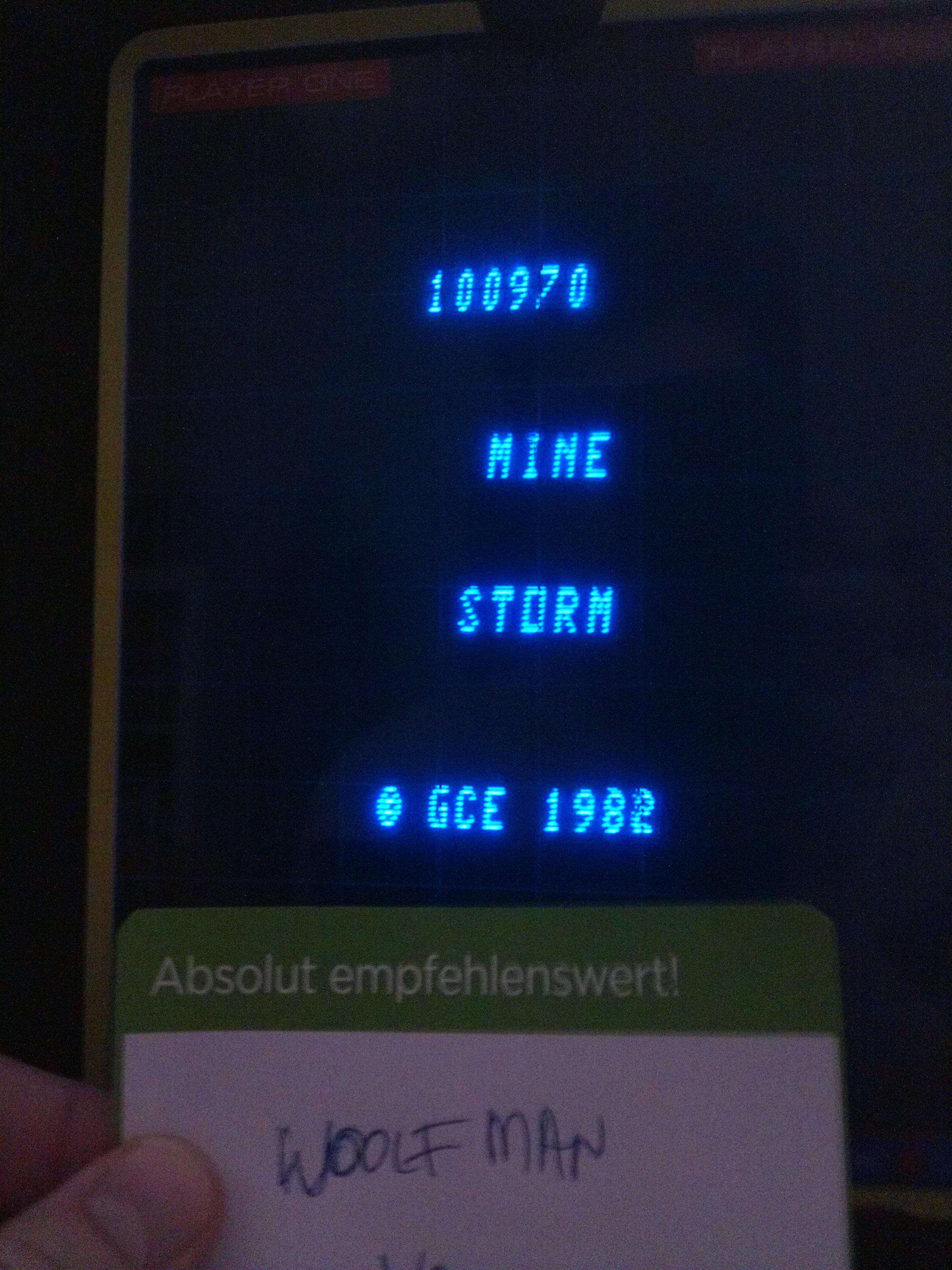 woolfman: Mine Storm: European version (Vectrex) 100,970 points on 2014-07-22 12:07:20