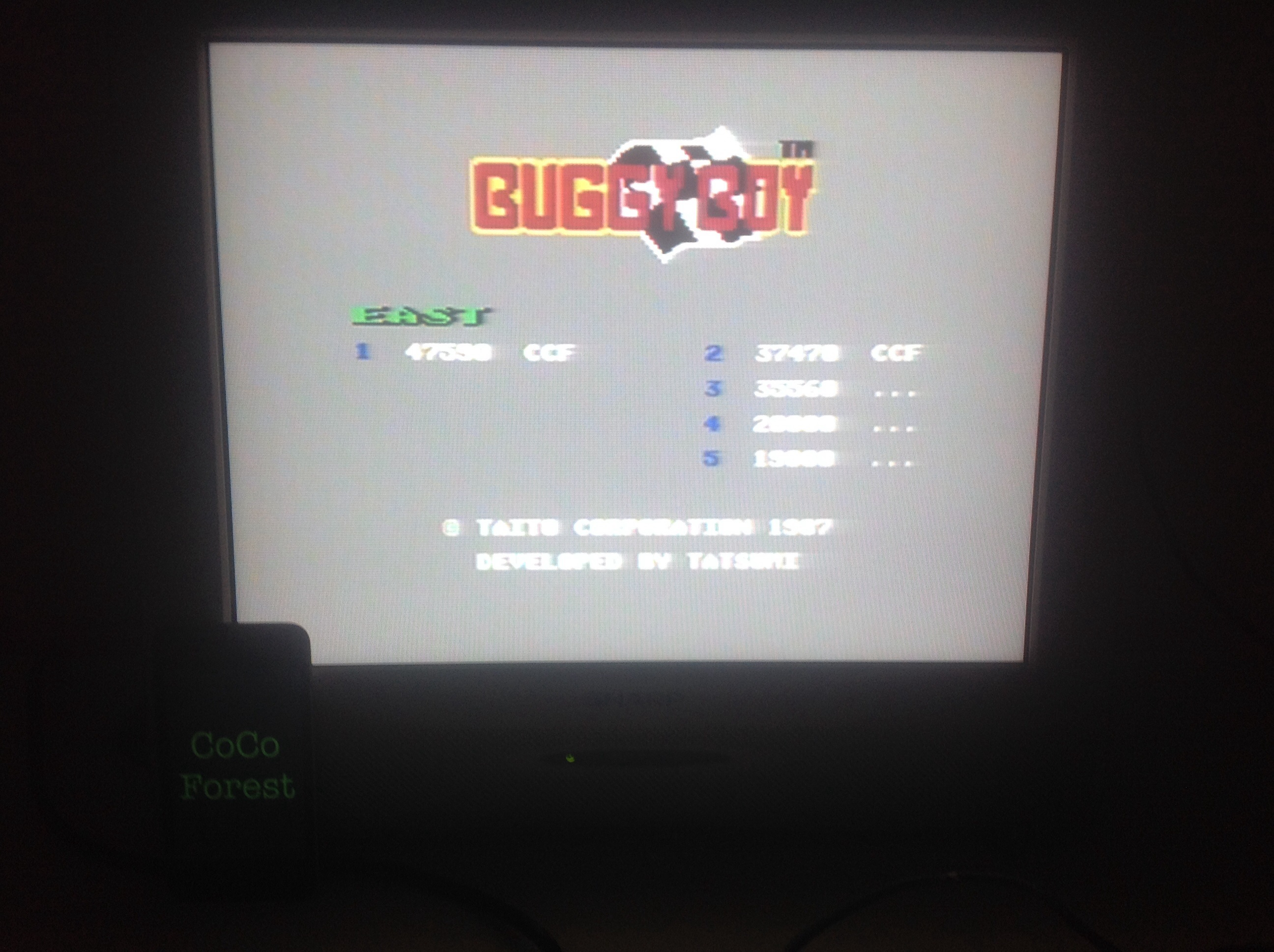 Buggy Boy: East 47,590 points