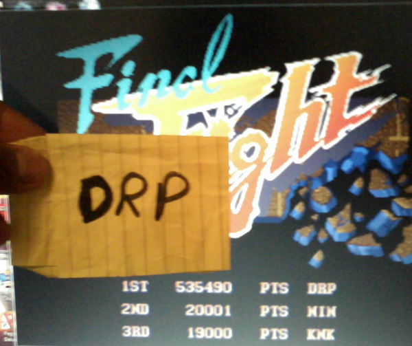 Final Fight 535,490 points