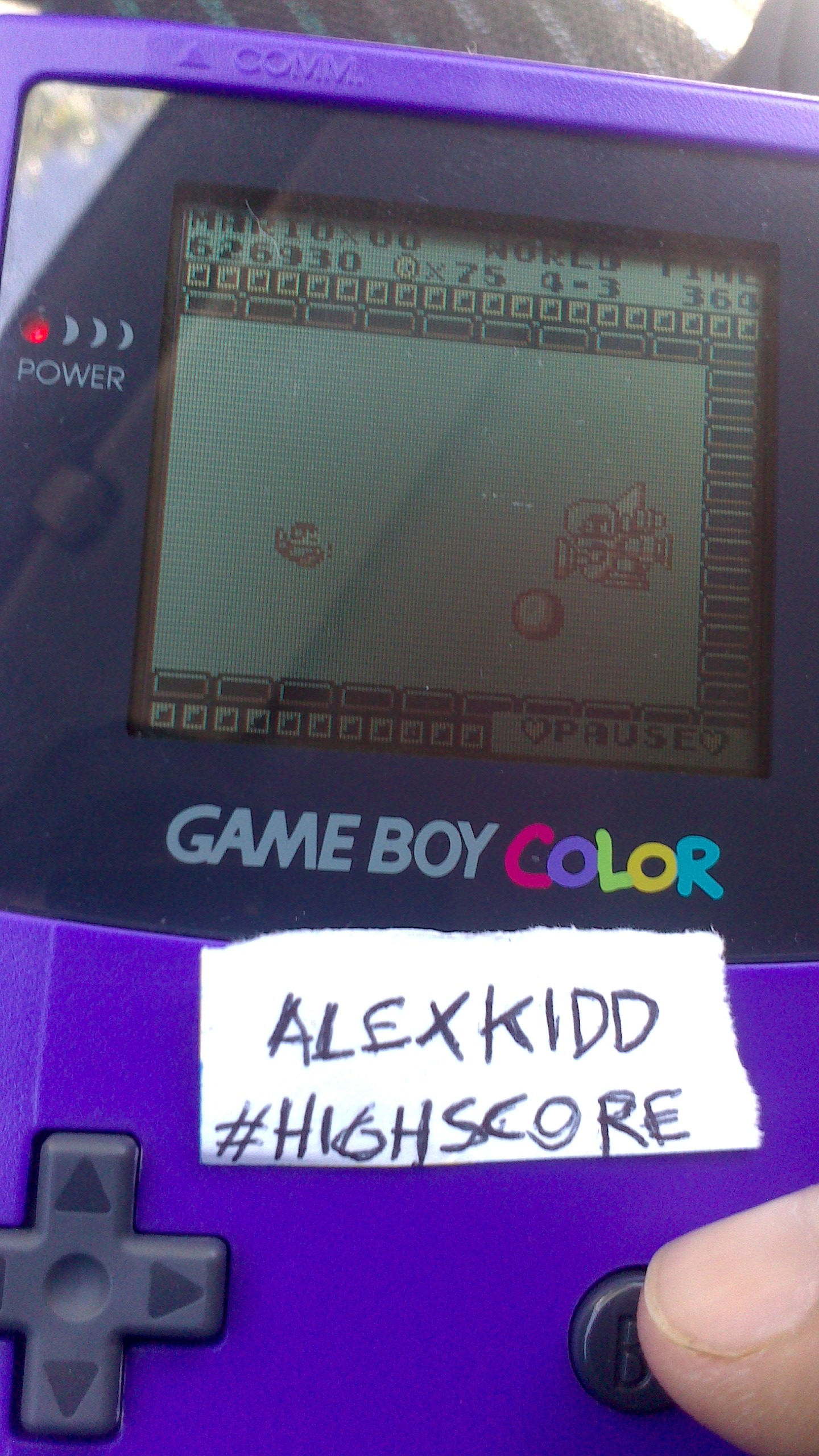 AlexKidd: Super Mario Land (Game Boy) 626,930 points on 2014-07-22 16:04:33