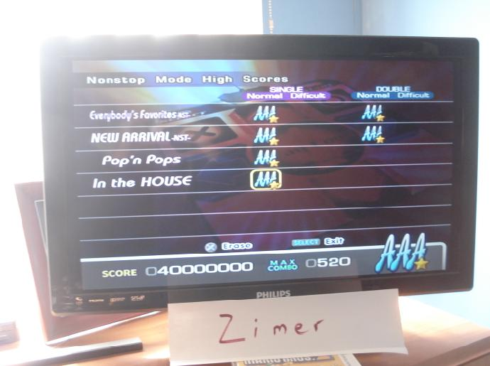 DDR Extreme: In The House [Single/Nonstop/Normal] 40,000,000 points