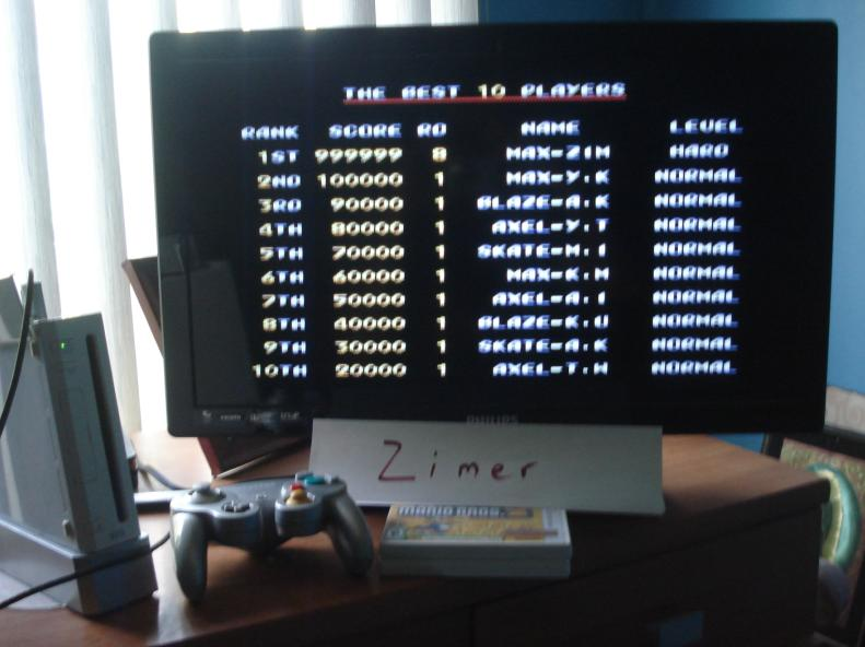 Zimer: Streets of Rage 2  [Any Settings/Any Tactics] (Wii Virtual Console: Genesis) 999,999 points on 2014-07-23 08:45:57