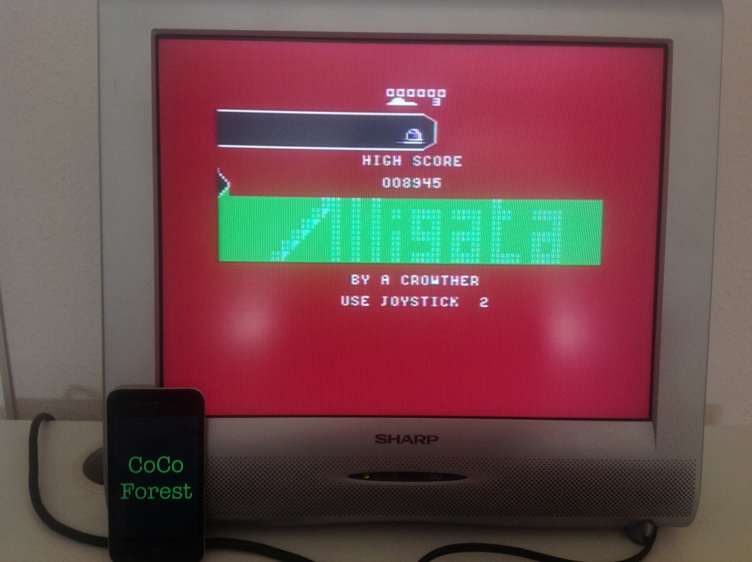 CoCoForest: Killerwatt: Level 1 Start (Commodore 64) 8,945 points on 2014-07-23 08:48:57