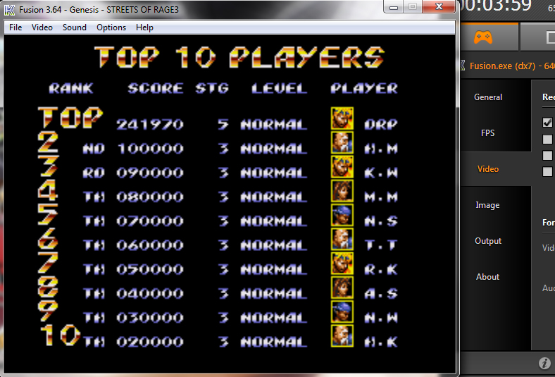 Streets Of Rage 3: Normal 241,970 points