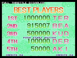 Beerman: Puzzle de Pon (Neo Geo Emulated) 915,007 points on 2014-07-24 09:59:49