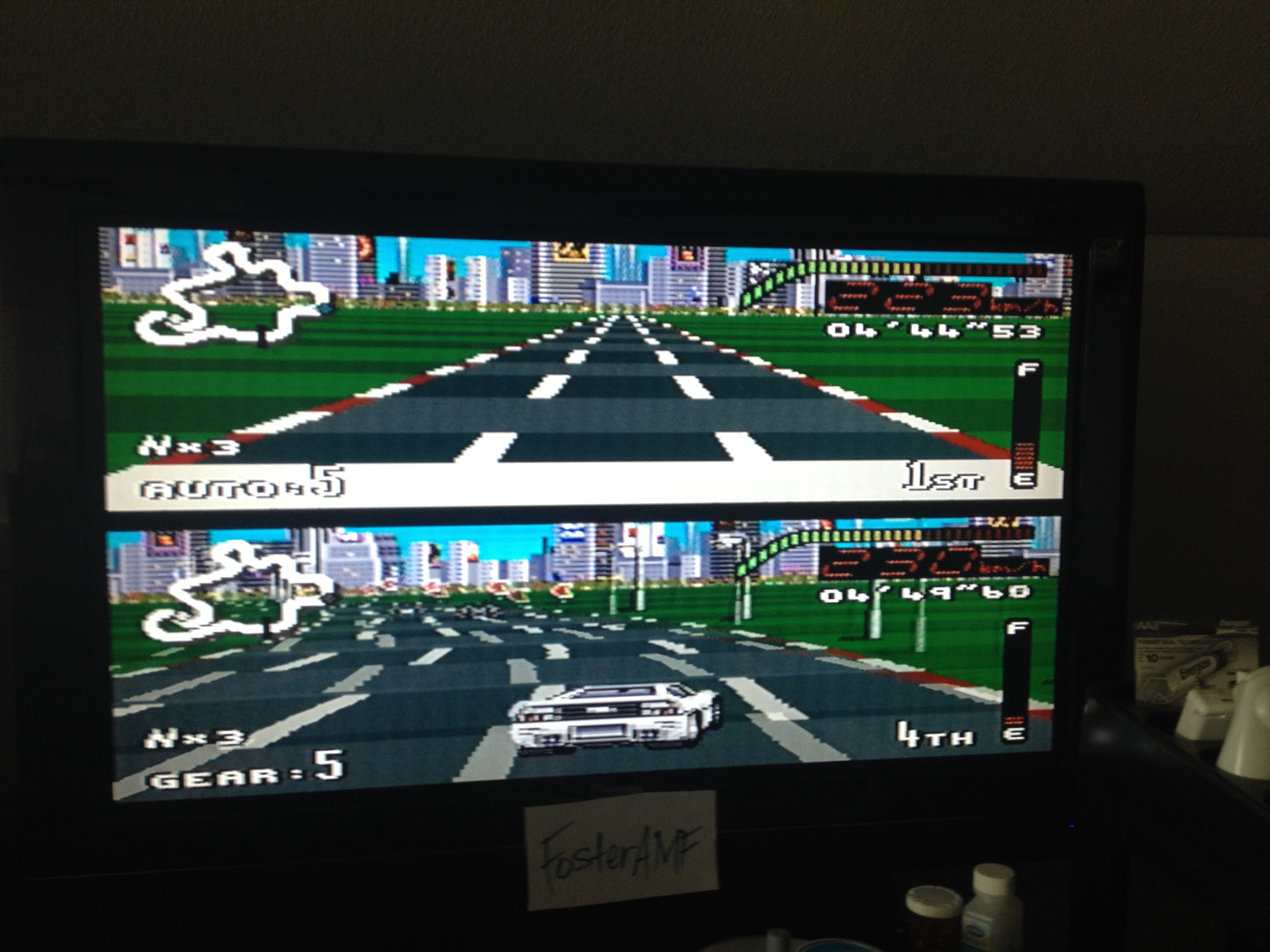 FosterAMF: Top Gear [Track 9: Tokyo/Amateur Difficulty/No Nitro] (SNES/Super Famicom) 0:04:44.53 points on 2014-07-24 15:52:30
