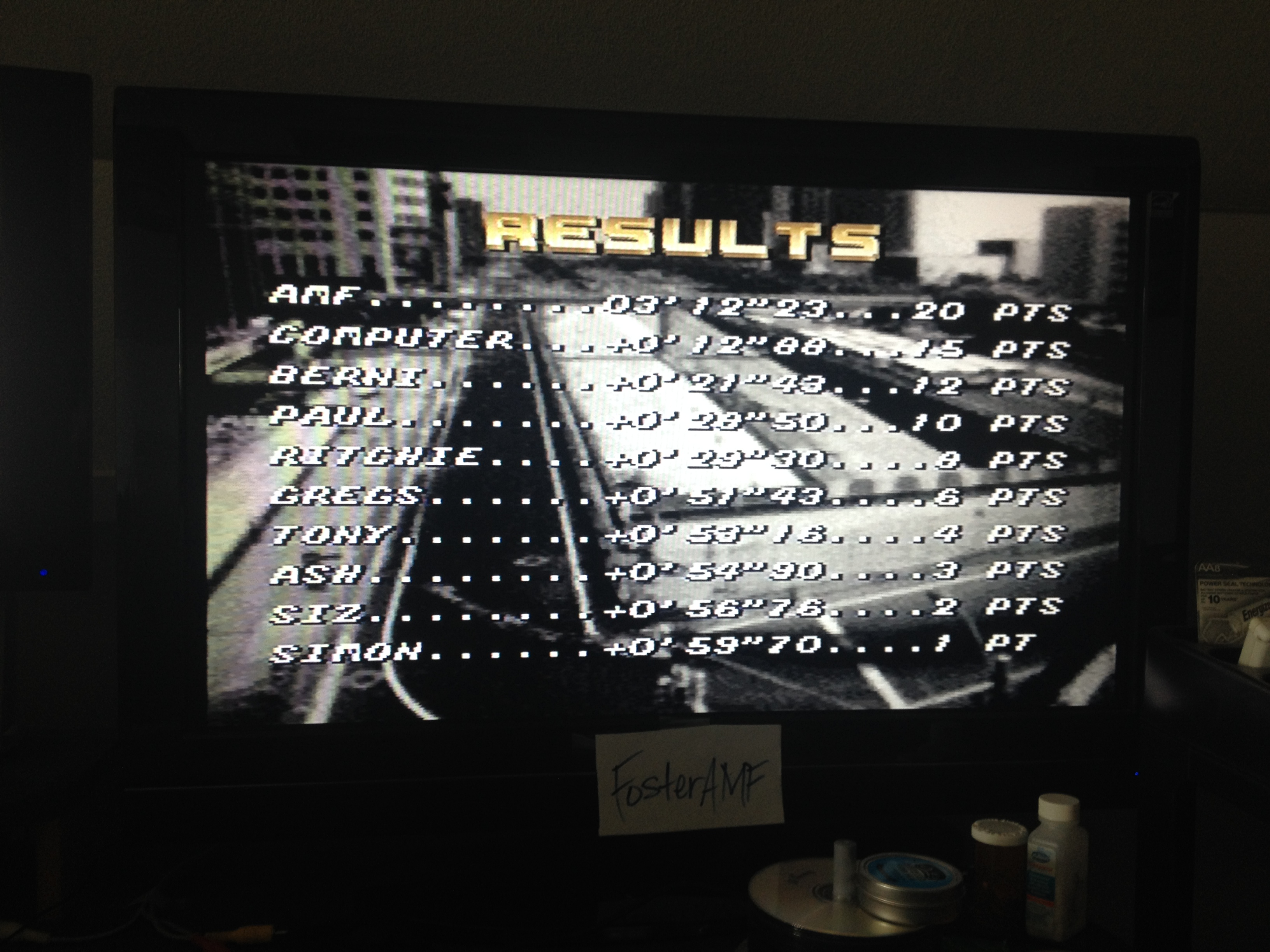 FosterAMF: Top Gear [Track 10: Hiroshima/Amateur Difficulty/No Nitro] (SNES/Super Famicom) 0:03:12.23 points on 2014-07-24 15:55:15