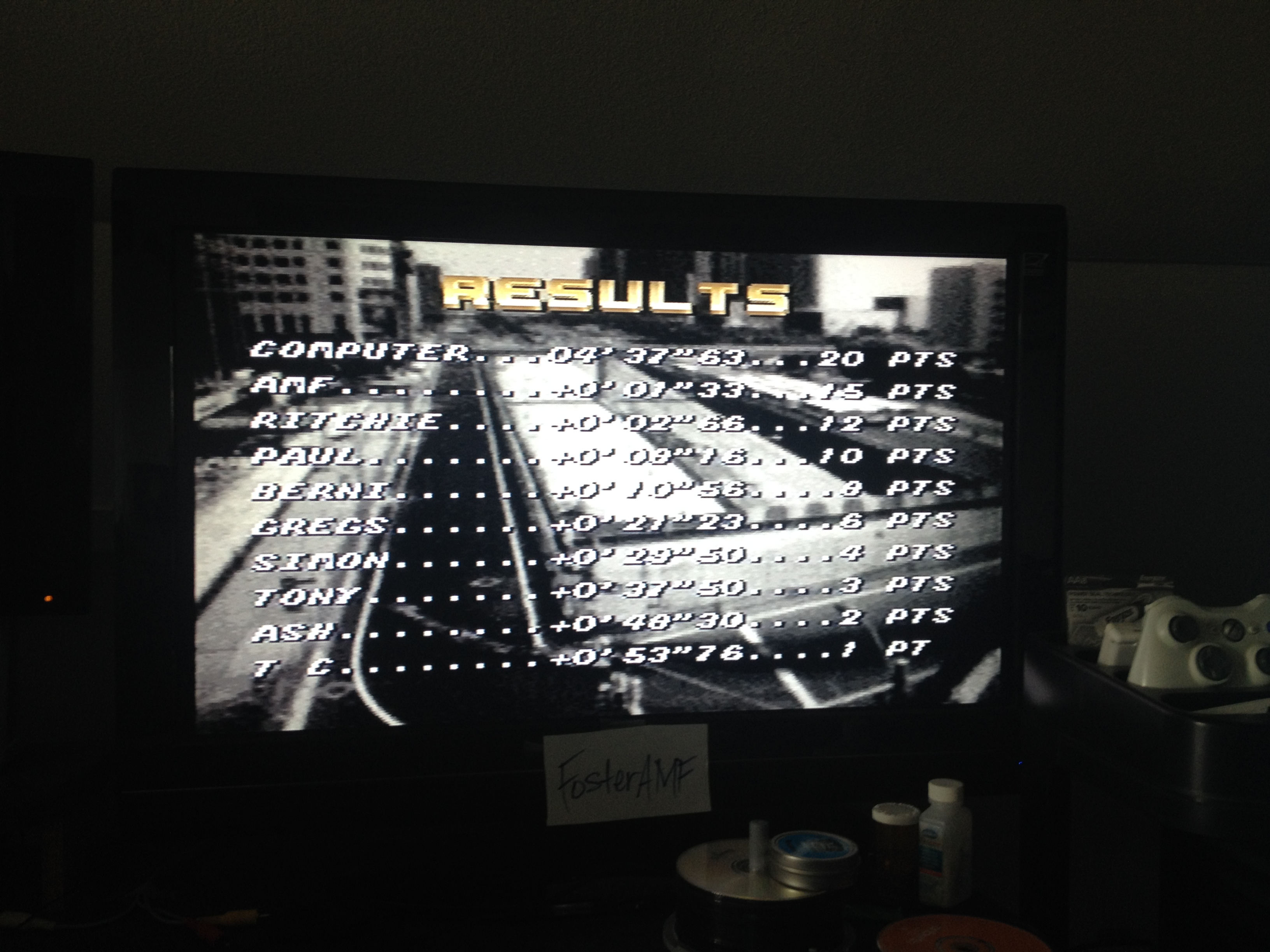 FosterAMF: Top Gear [Track 12: Kyoto/Amateur Difficulty/No Nitro] (SNES/Super Famicom) 0:04:38.96 points on 2014-07-24 16:00:43