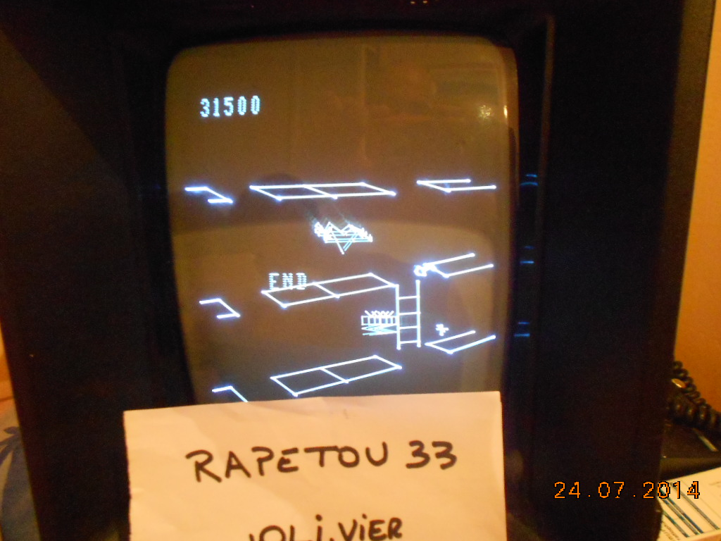 rapetou33: Spike (Vectrex) 31,500 points on 2014-07-25 04:31:19