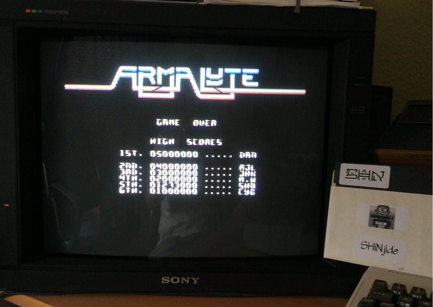 SHiNjide: Armalyte (Commodore 64) 1,273,000 points on 2014-07-25 10:08:23