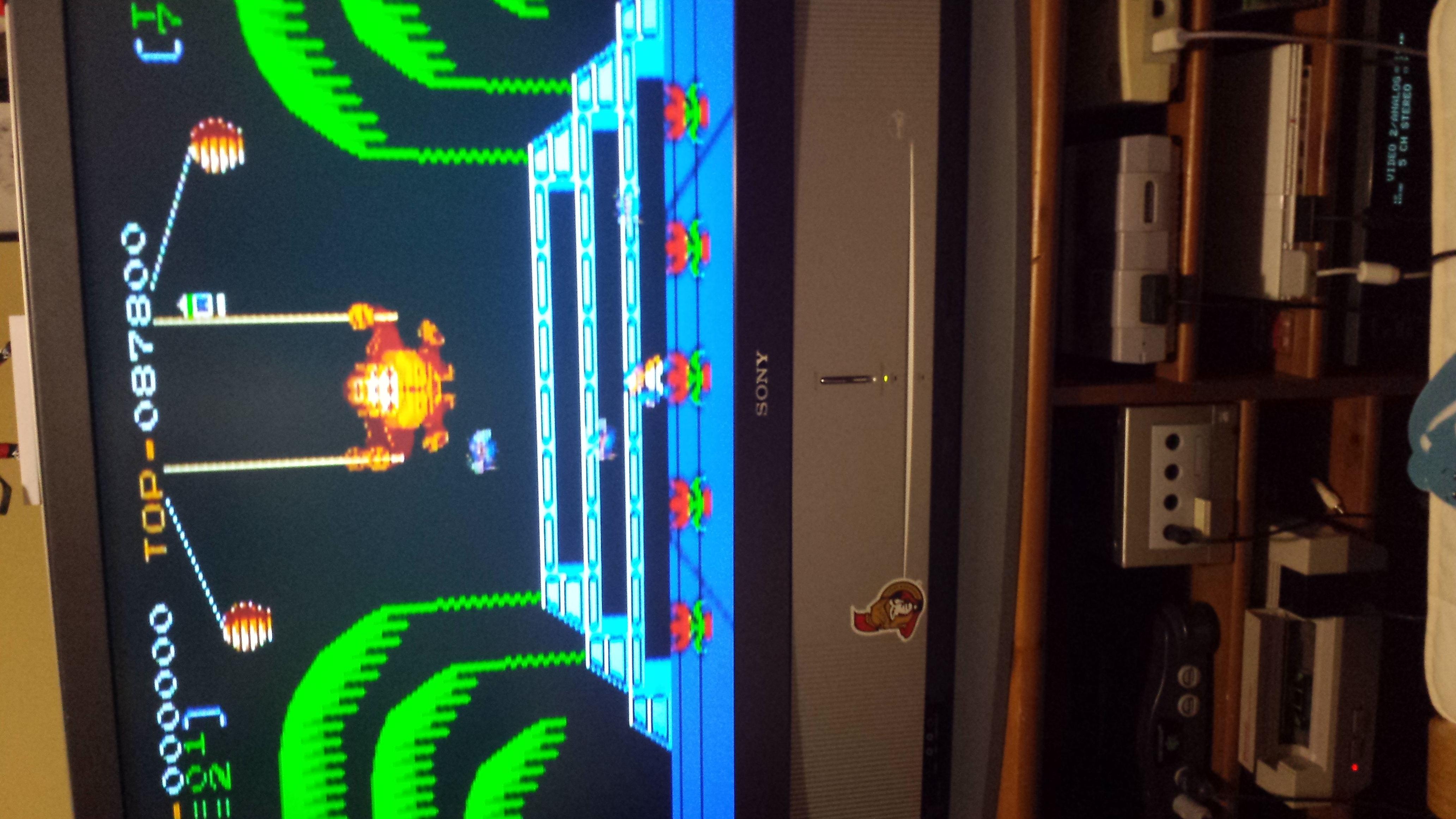 Donkey Kong 3: Game A 87,800 points
