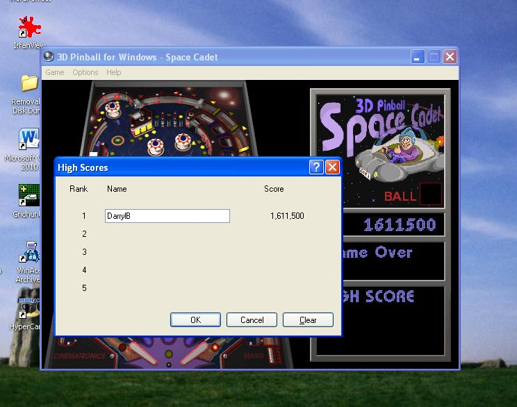 3D Pinball: Space Cadet 1,611,500 points