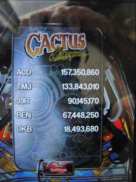 DarrylB: Pinball Arcade: Cactus Canyon (Android) 18,493,680 points on 2014-07-26 14:34:37