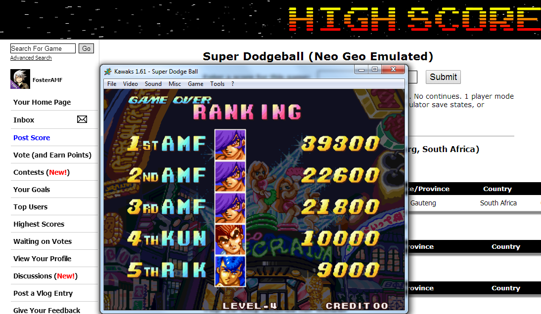 FosterAMF: Super Dodgeball (Neo Geo Emulated) 39,300 points on 2014-07-26 23:43:04