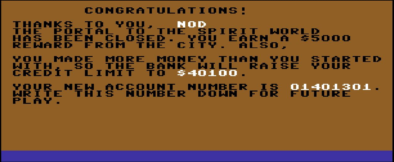 Nod: Ghostbusters (Commodore 64 Emulated) 40,100 points on 2014-07-27 19:21:34