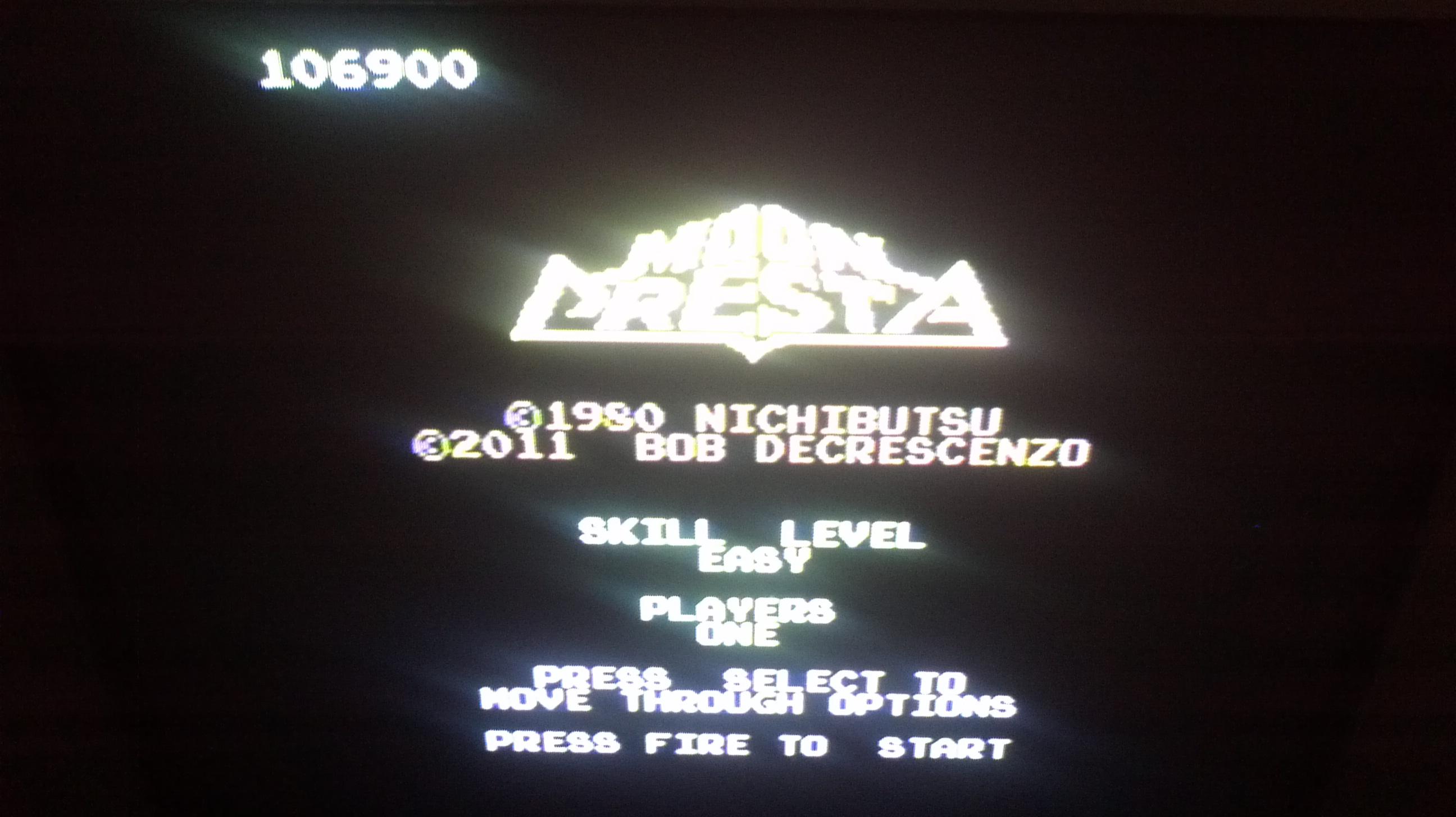 Liduario: Moon Cresta: Easy (Atari 7800) 106,900 points on 2014-07-28 07:20:26
