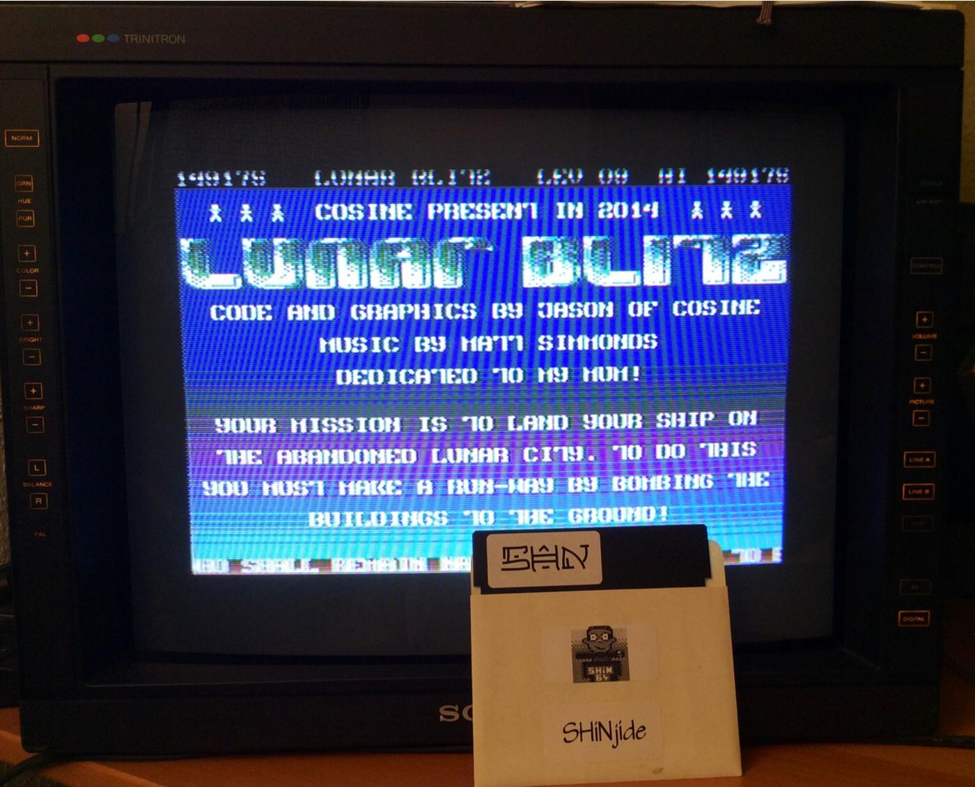 SHiNjide: Lunar Blitz RX (Commodore 64) 149,175 points on 2014-07-29 00:05:56