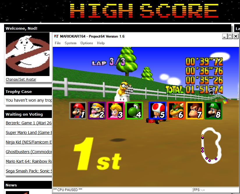 Nod: Mario Kart 64: Moo Moo Farm [50cc] (N64 Emulated) 0:01:51.74 points on 2014-07-29 16:15:11