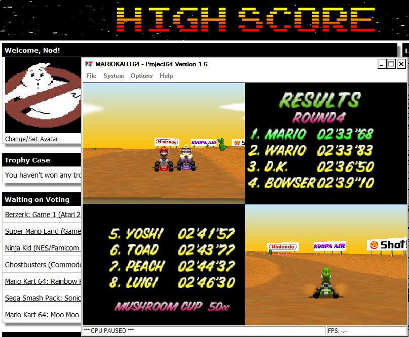 Nod: Mario Kart 64: Kalimari Desert [50cc] (N64 Emulated) 0:02:33.68 points on 2014-07-29 16:57:19