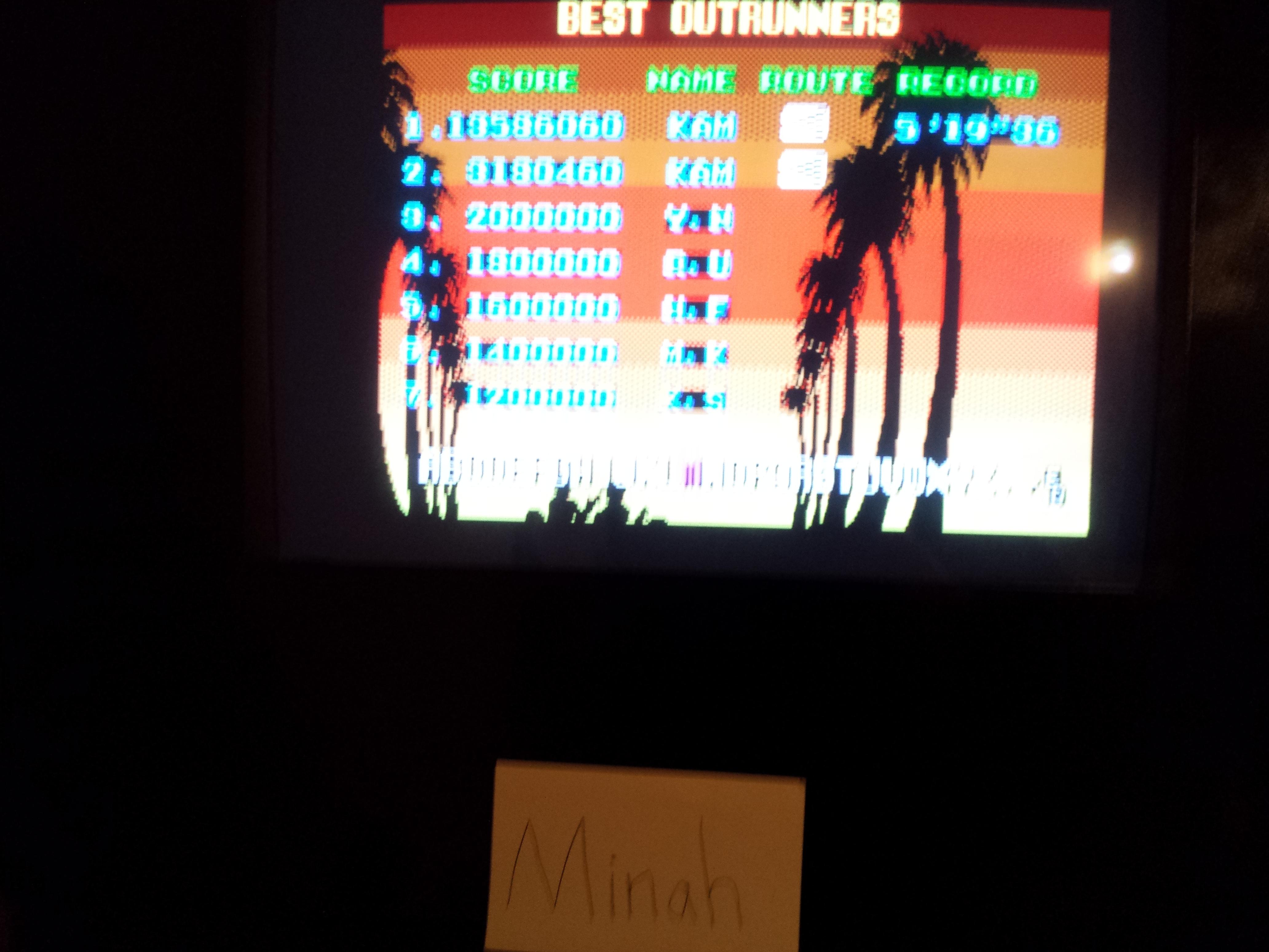 Outrun 13,586,060 points