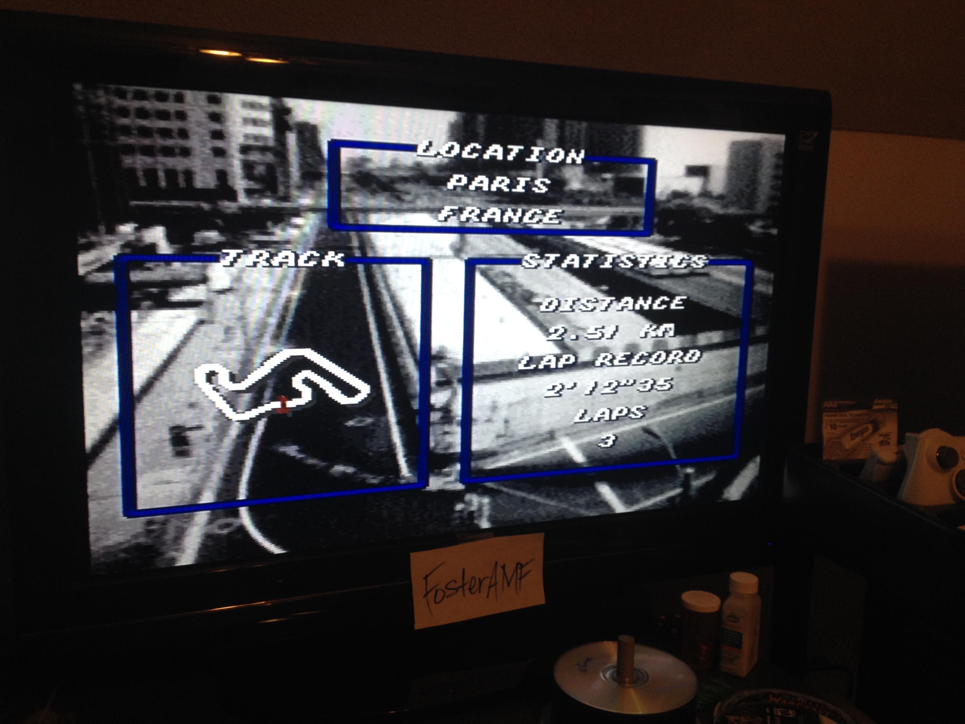 FosterAMF: Top Gear [Track 21: Paris/Amateur Difficulty/No Nitro] (SNES/Super Famicom) 0:02:14.6 points on 2014-07-31 02:56:07