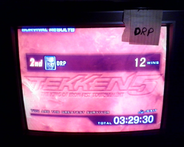 Tekken 5 [Survival Mode: Wins] 12 points