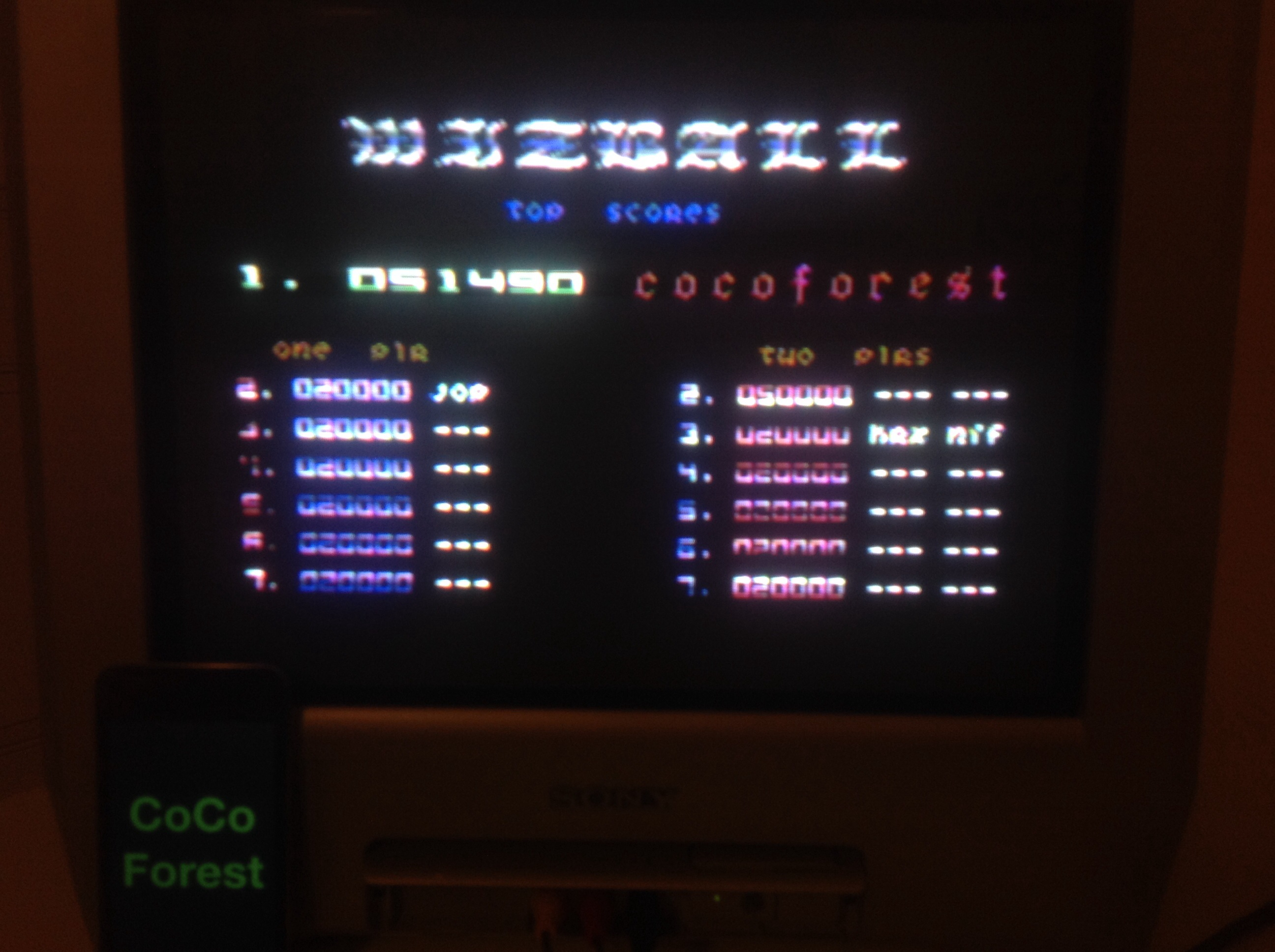 CoCoForest: Wizball (Commodore 64) 51,490 points on 2014-07-31 15:28:01