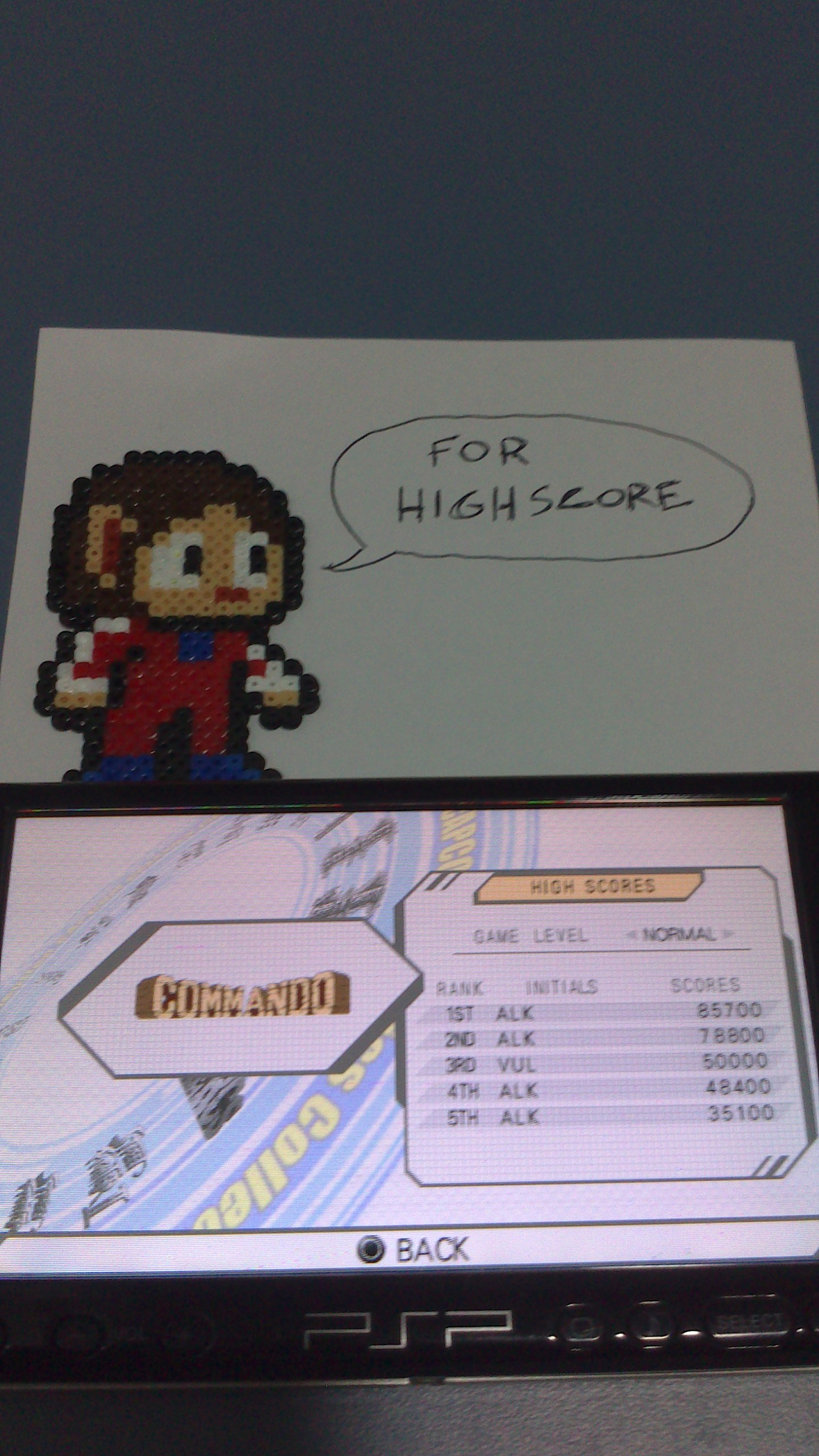 AlexKidd: Capcom Classics Collection Reloaded: Commando (PSP) 85,700 points on 2014-08-01 16:28:42