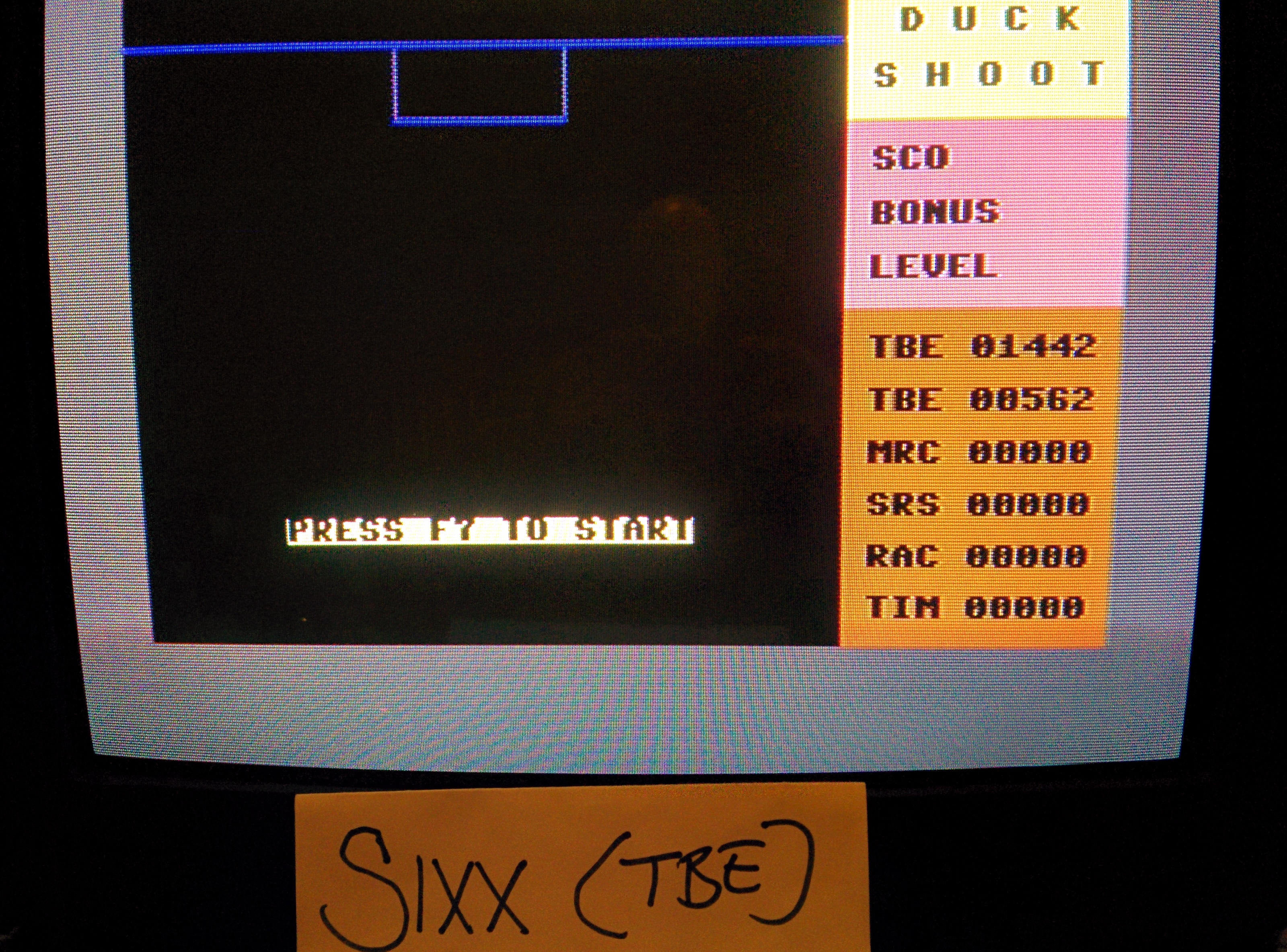 Sixx: Duck Shoot [Mastertronic] (Commodore 64) 1,442 points on 2014-08-02 15:11:40