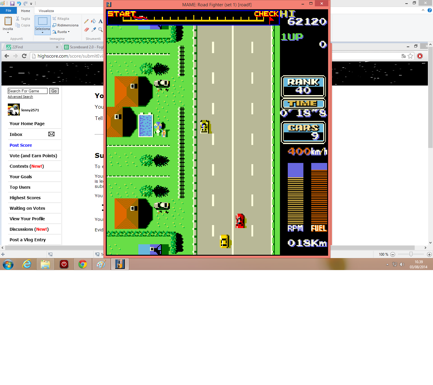Road Fighter [roadf] 62,120 points